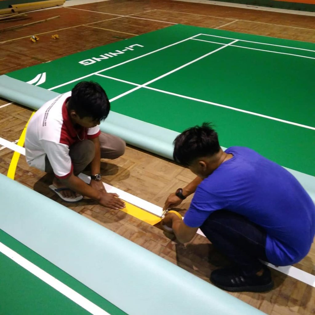 lantai vinyl badminton
